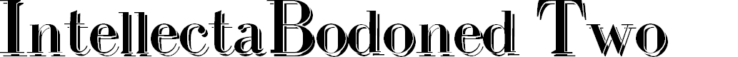 Preview image for IntellectaBodoned Two Font