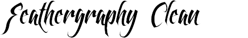 Preview image for Feathergraphy Clean Font