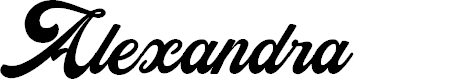 Preview image for Alexandra Personal Use Regular Font