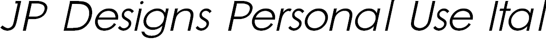 Preview image for JP Designs Personal Use Italic