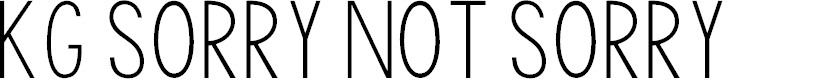 Preview image for KG Sorry Not Sorry Font