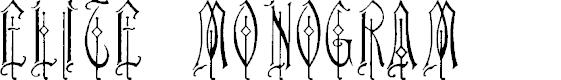 Preview image for Elite Monogram (Alternika Fonts)