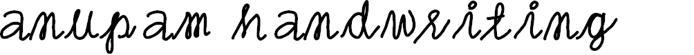 Preview image for anupam handwriting Font