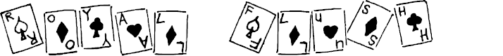 Preview image for Royal Flush Regular Font