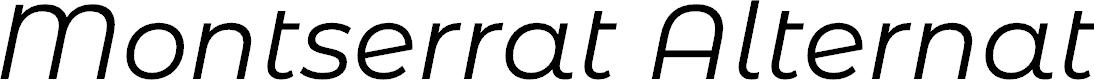 Preview image for Montserrat Alternates Italic