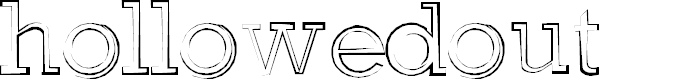 Preview image for hollowedout Font