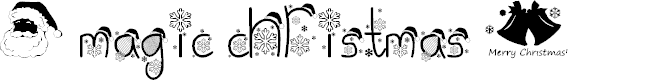 Preview image for Magic Christmas Font