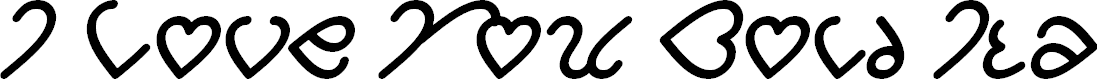Preview image for I Love You Bold Italic