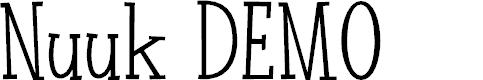 Preview image for Nuuk DEMO Regular Font