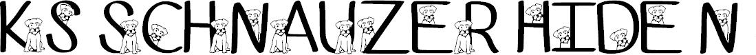 Preview image for Ks Schnauzer Hide N See Regular Font