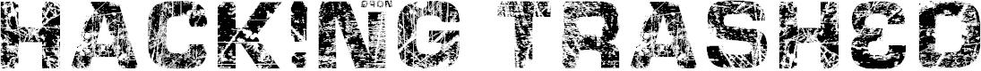 Preview image for HackingTrashed Regular Font