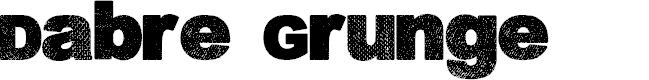 Preview image for Dabre Grunge Font