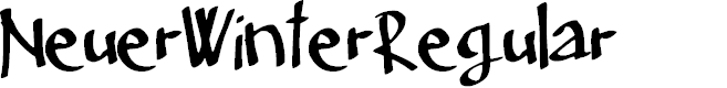 Preview image for Neuer_Winter_Regular Font