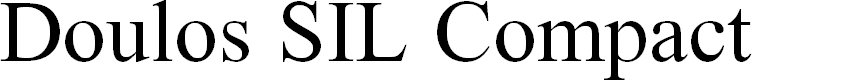 Preview image for Doulos SIL Compact Font