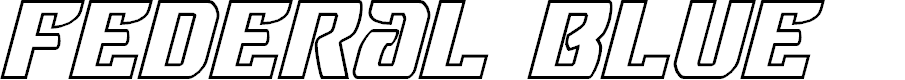 Preview image for Federal Blue Outline Italic