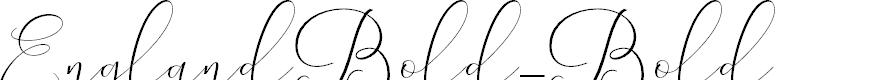 Preview image for EnglandBold-Bold Font