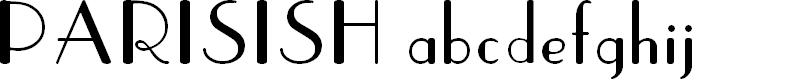 Preview image for Parisish Font