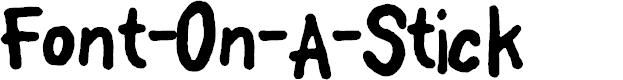 Preview image for FontOnAStick