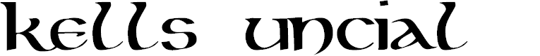 Preview image for Kells Uncial Bold Font