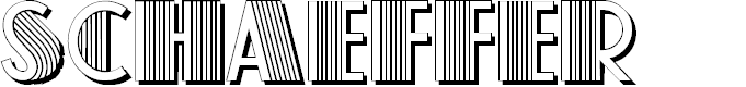 Preview image for Schaeffer Font