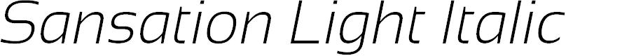 Preview image for Sansation Light Italic