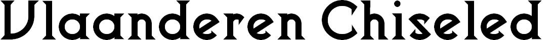 Preview image for Vlaanderen Chiseled NF Font