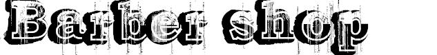 Preview image for Barber shop Font