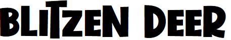 Preview image for Blitzen Deer Font