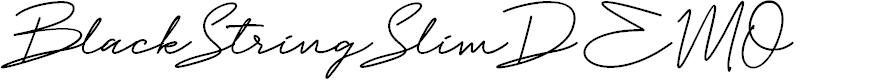 Preview image for Black String Slim DEMO Font