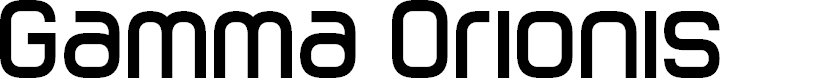 Preview image for Gamma Orionis Font