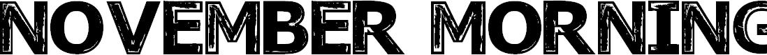 Preview image for November Mornings Regular Font