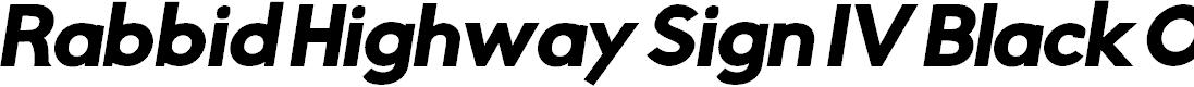 Preview image for Rabbid Highway Sign IV Black Oblique