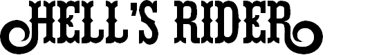 Preview image for Hells Rider Font