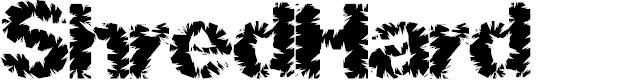 Preview image for ShredHard Font
