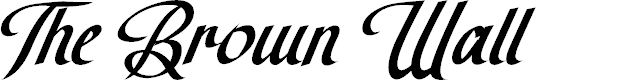 Preview image for The Brown Wall Font
