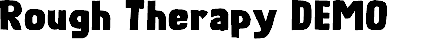 Preview image for Rough Therapy DEMO Regular Font
