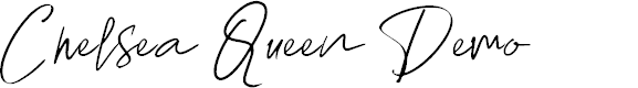Preview image for Chelsea Queen Demo Font