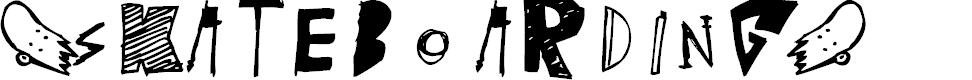 Preview image for (skateboarding) Font