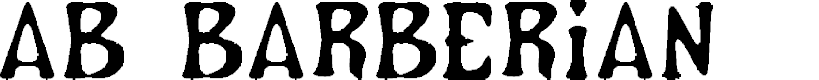Preview image for AB Barberian Font