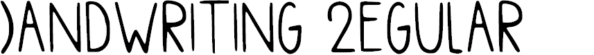 Preview image for Handwriting Regular Font