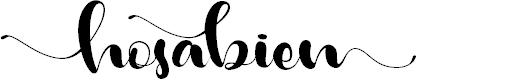 Preview image for Hosabien Font