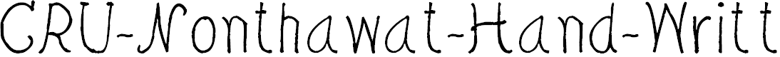 Preview image for CRU-Nonthawat-Hand-Written Regular Font