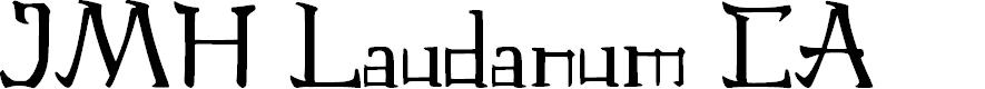 Preview image for JMH Laudanum CA Font