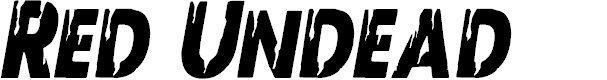 Preview image for Red Undead Condensed Italic