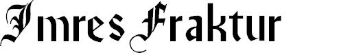 Preview image for ImresFraktur Font