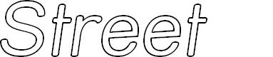 Preview image for Street Outline Italic