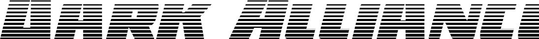 Preview image for Dark Alliance Gradient Italic