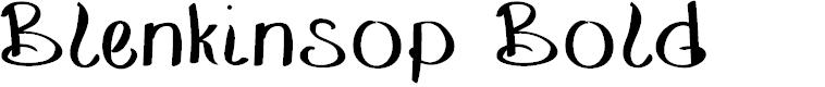 Preview image for BlenkinsopBold Font