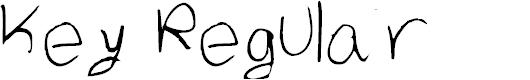 Preview image for Key Regular Font