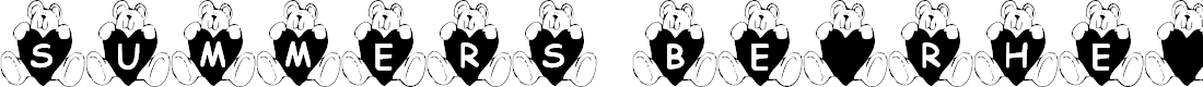 Preview image for Summer's BearHearts Font